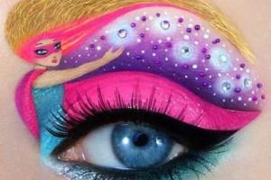 Необычный макияж для глаз