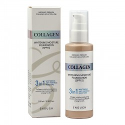 Тональный крем для сияния кожи Collagen Whitening Moisture Foundation Enough SPF 15 2шт